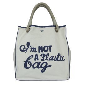 "Anya Hindmarch ""I'm not a Plastic Bag"" Blue"
