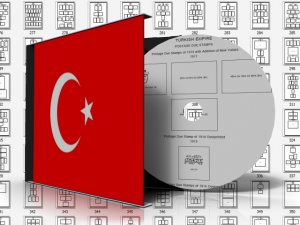 TURKEY STAMP ALBUM PAGES 1863-2011 (505 pages)