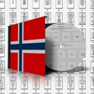 NORWAY STAMP ALBUM PAGES 1855-2011 (185 pages)