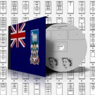 FALKLAND ISLANDS STAMP ALBUM PAGES 1878-2011 (159 pages)