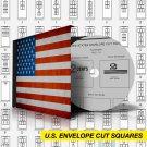 U.S.A. ENVELOPE CUT SQUARES STAMP ALBUM PAGES 1853-1974 (111 pages)