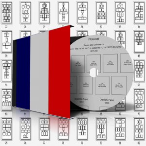 FRANCE STAMP ALBUM PAGES 1849-2011 (653 pages)