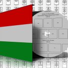 HUNGARY STAMP ALBUM PAGES 1871-2011 (741 pages)
