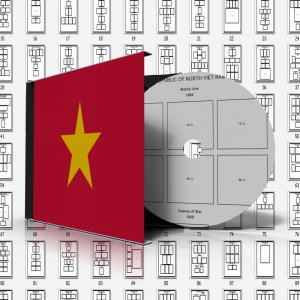 VIETNAM STAMP ALBUM PAGES 1946-2011 (510 pages)