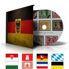 GERMANY STATES STAMP ALBUM PAGES CD 1849-1923 (66 color illustrated pages)