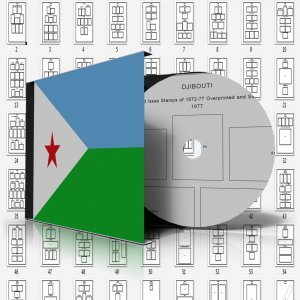 DJIBOUTI STAMP ALBUM PAGES 1972-2006 (163 pages)