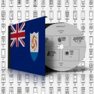 ANGUILLA STAMP ALBUM PAGES 1967-2011 (216 pages)