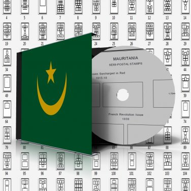 MAURITANIA STAMP ALBUM PAGES 1906-2005 (165 pages)