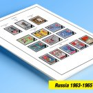 COLOR PRINTED RUSSIA 1963-1965 STAMP ALBUM PAGES (48 illustrated pages)