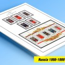 COLOR PRINTED RUSSIA 1998-1999 STAMP ALBUM PAGES (30 illustrated pages)