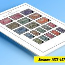 COLOR PRINTED SURINAM 1873-1975 STAMP ALBUM  PAGES (62 illustrated pages)