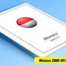 COLOR PRINTED MONACO 2000-2010 STAMP ALBUM  PAGES (62 illustrated pages)