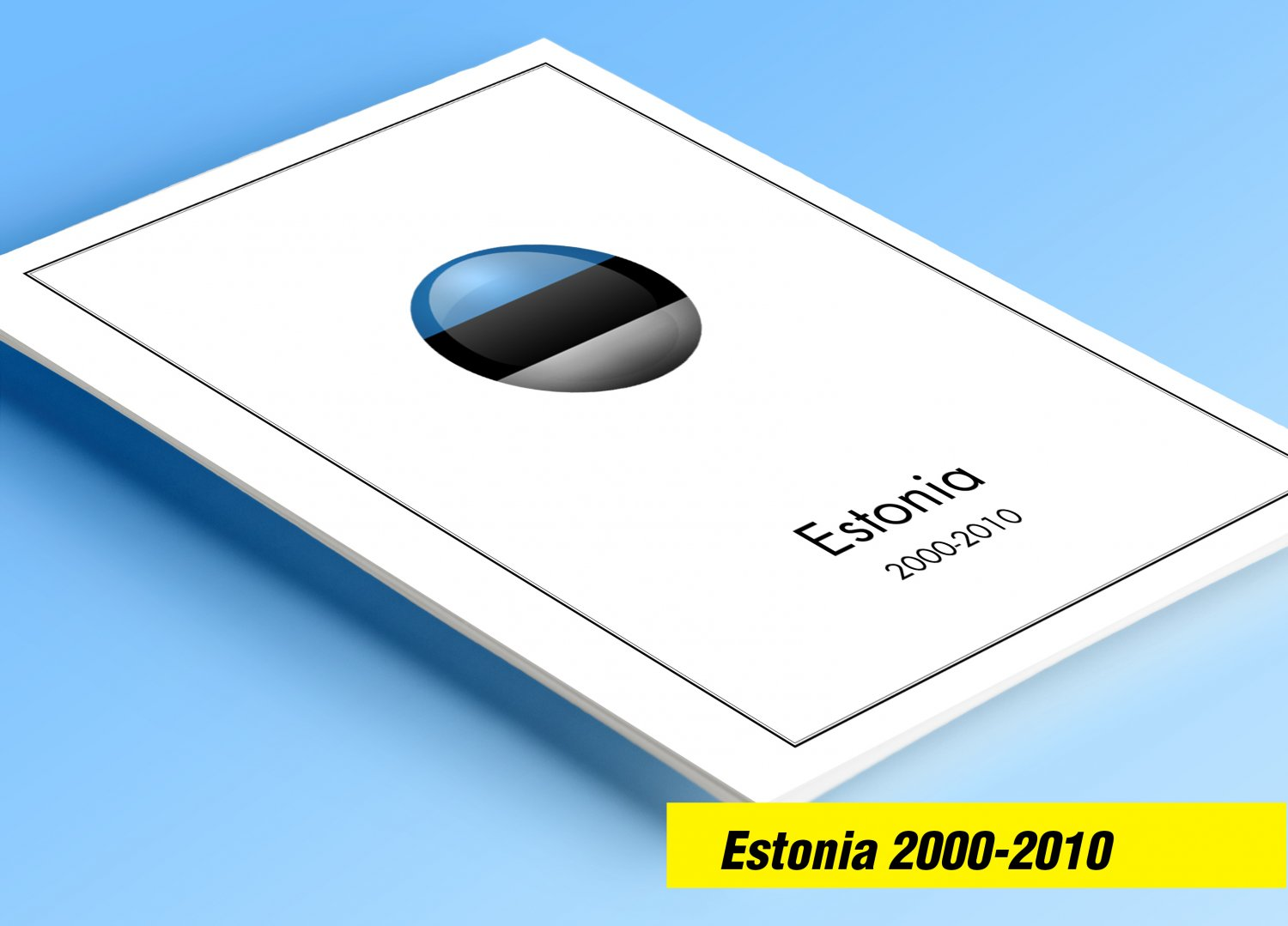 COLOR PRINTED ESTONIA 2000-2010 STAMP ALBUM  PAGES (36 illustrated pages)