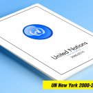 COLOR PRINTED UNITED NATIONS - NEW YORK OFFICES 2000-2010 STAMP ALBUM  PAGES (61 illustrated pages)