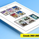 COLOR PRINTED CANADA 2003-2005 STAMP ALBUM  PAGES (45 illustrated pages)