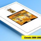COLOR PRINTED CANADA 2006-2008 STAMP ALBUM PAGES (33 illustrated pages)