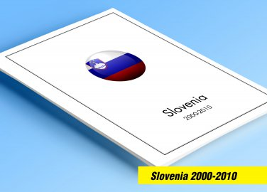 COLOR PRINTED SLOVENIA 2000-2010 STAMP ALBUM PAGES (76 illustrated pages)