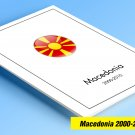 COLOR PRINTED MACEDONIA 2000-2010 STAMP ALBUM PAGES (56 illustrated pages)
