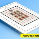 COLOR PRINTED AUSTRIA 1971-1985 STAMP ALBUM PAGES (49 illustrated pages)