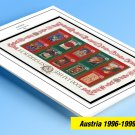 COLOR PRINTED AUSTRIA 1996-1999 STAMP ALBUM PAGES (13 illustrated pages)