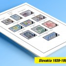 COLOR PRINTED SLOVAKIA 1939-1999 STAMP ALBUM  PAGES (46 illustrated pages)