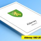 COLOR PRINTED ALDERNEY 1983-2010 STAMP ALBUM PAGES (53 illustrated pages)