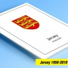COLOR PRINTED JERSEY 1958-2010-2010 STAMP ALBUM PAGES (198 illustrated pages)