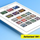 COLOR PRINTED SWITZERLAND 1941-1978 STAMP ALBUM PAGES (62 illustrated pages)
