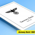 COLOR PRINTED GERMANY REICH 1868-1955 STAMP ALBUM PAGES (100 illustrated pages)