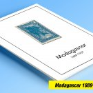 COLOR PRINTED MADAGASCAR 1889-1957 STAMP ALBUM PAGES (38 illustrated pages)