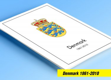 COLOR PRINTED DENMARK 1861-2010 STAMP ALBUM  PAGES (187 illustrated pages)