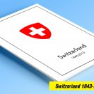 COLOR PRINTED SWITZERLAND 1843-2010 STAMP ALBUM PAGES (214 illustrated pages)