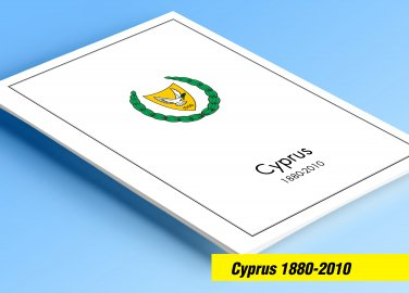 COLOR PRINTED GREEK CYPRUS 1880-2010 STAMP ALBUM PAGES (136 illustrated pages)