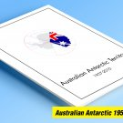 AUSTRALIAN ANTARCTIC TERRITORY 1957-2010 COLOR PRINTED STAMP ALBUM PAGES  (23 pages)