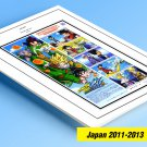 COLOR PRINTED JAPAN 2011-2013 STAMP ALBUM PAGES (127 illustrated pages)