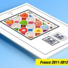 COLOR PRINTED FRANCE 2011-2012 STAMP ALBUM PAGES (62 illustrated pages)