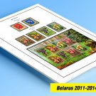 COLOR PRINTED BELARUS 2011-2014 STAMP ALBUM PAGES (37 illustrated pages)