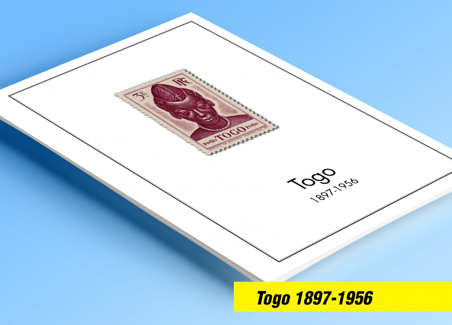 TOGO 1897-1956 COLOR PRINTED STAMP ALBUM PAGES  (26 illustrated pages)