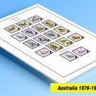 COLOR PRINTED AUSTRALIA 1976-1990 STAMP ALBUM PAGES (63 illustrated pages)