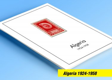 COLOR PRINTED FRENCH ALGERIA 1924-1958 STAMP ALBUM PAGES (29 illustrated pages)