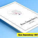 OCCUPIED ROSS DEPENDENCY 1957-2010 COLOR PRINTED STAMP ALBUM PAGES  (16 illustrated pages)