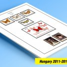 COLOR PRINTED HUNGARY 2011-2013 STAMP ALBUM PAGES (23 illustrated pages)