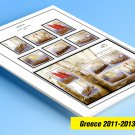 GREECE 2011-2013 COLOR PRINTED STAMP ALBUM PAGES  (26 illustrated pages)