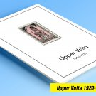 COLOR PRINTED UPPER VOLTA 1920-1931 STAMP ALBUM PAGES (6 illustrated pages)