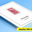 COLOR PRINTED ALAOUITES 1925-1929 STAMP ALBUM PAGES (6 illustrated pages)