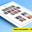 COLOR-PRINTED FRANCE 1941-1999 SEMI-POSTALS + STAMP ALBUM PAGES (87 illustrated pages)