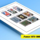 COLOR PRINTED FRANCE 1975-1980 STAMP ALBUM PAGES (27 illustrated pages)