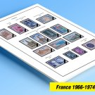 COLOR PRINTED FRANCE 1966-1974 STAMP ALBUM PAGES (27 illustrated pages)