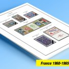 COLOR PRINTED FRANCE 1960-1965 STAMP ALBUM PAGES (18 illustrated pages)