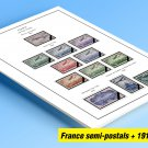 COLOR PRINTED FRANCE SEMI-POSTALS + 1914-1940 STAMP ALBUM PAGES (24 illustrated pages)